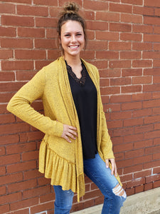 Taran Ruffled Cardigan