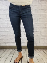 "Load image into Gallery viewer, ""Ab""solution Skinny Jeans - Dark Wash"