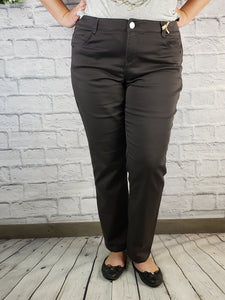 """Ab""Solution Espresso Dress Pant - Extended Size"