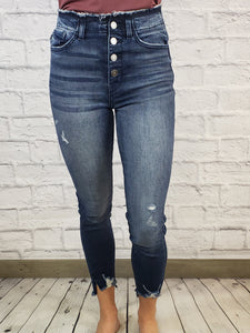 Dafny High Rise Ankle Skinnys