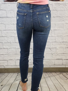 Judy Blue Patched Destoyed Skinny Jeans