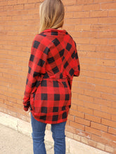 Load image into Gallery viewer, Hollei Plaid Cardigan
