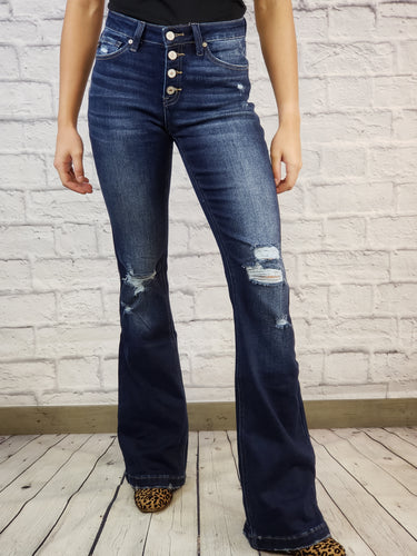 Anessa Distressed Flares