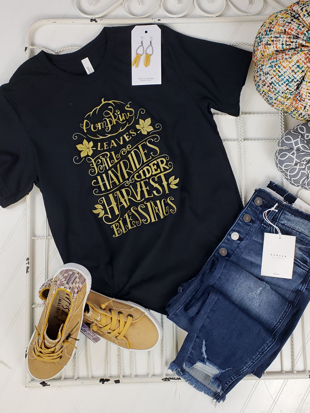 Pumpkin, Leaves and Hayrides Graphic Tee