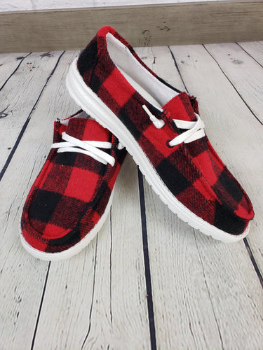 Gypsy Jazz Heather Sneaker - Buffalo Plaid