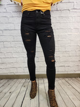 Load image into Gallery viewer, Rose High Rise Skinny Jeans