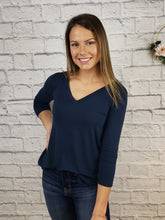 Load image into Gallery viewer, Danah 3/4 Sleeve V-Neck