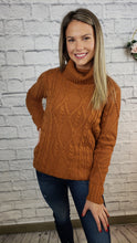 Load image into Gallery viewer, Janisa Cable Knit Turtleneck