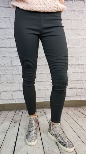 Moto Leggings with Ankle Zips