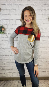 Kirsten Buffalo Plaid Top