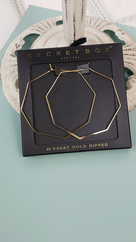 14K Gold Dipped Octagon Hoops