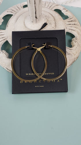 14K Gold Dipped Hoops