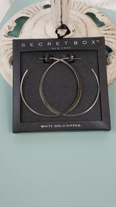 White Gold Dipped Hoops