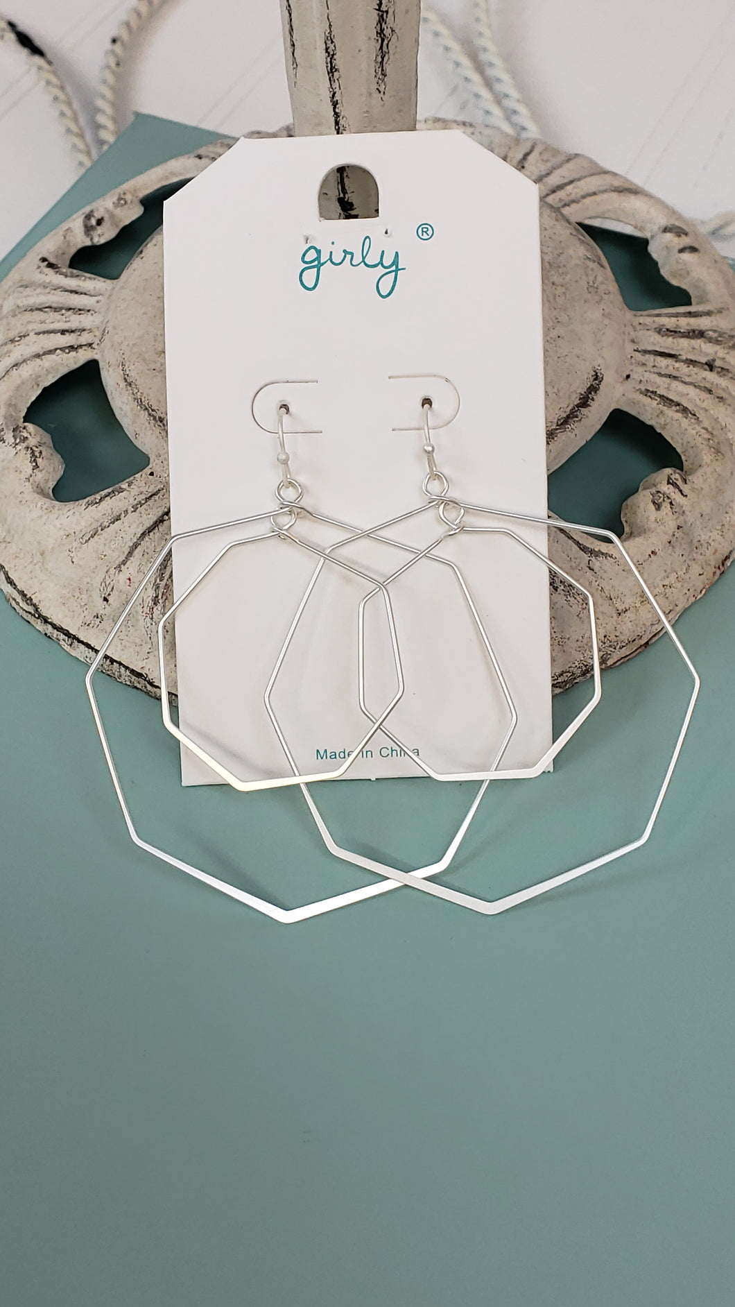 Octagon Drop Earrings