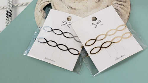 Oval Link Hair Clips