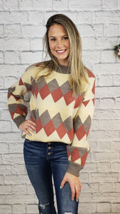 Evlin Argyle Sweater
