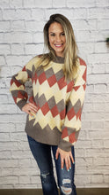 Load image into Gallery viewer, Evlin Argyle Sweater