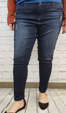 "Load image into Gallery viewer, ""Ab""solution Skinny Jeans with Distressing: Extended Sizes"