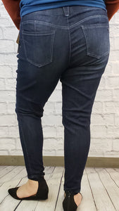 """Ab""solution Skinny Jeans with Distressing: Extended Sizes"