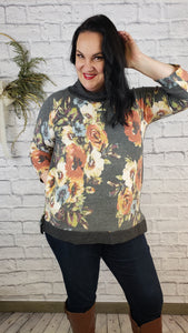 Nixie Floral Cowl Neck Top