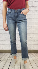 Load image into Gallery viewer, Democracy Cropped Girlfriend Jeans