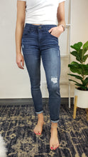 "Load image into Gallery viewer, ""Ab""solution Distressed Ankle Skinny - Med Wash"