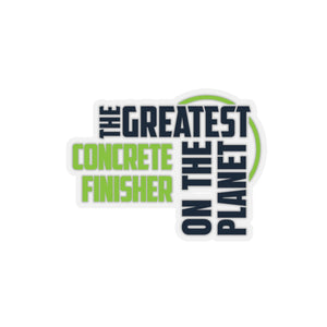 Stickers - Concrete Finisher