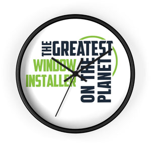 Wall clock - Window Installer