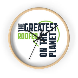 Wall clock - Roofer