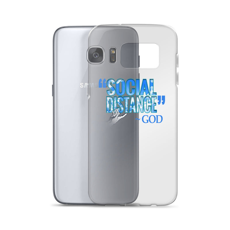 """Social Distance"" - God: Cell Phone Case for: Samsung 10, 10+, 10e, S20, S20+, S Ultra, S7, S7 Edge"