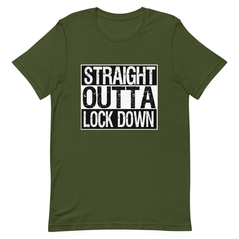 STRAIGHT OUTTA LOCK DOWN (Short-Sleeve Unisex T-Shirt)