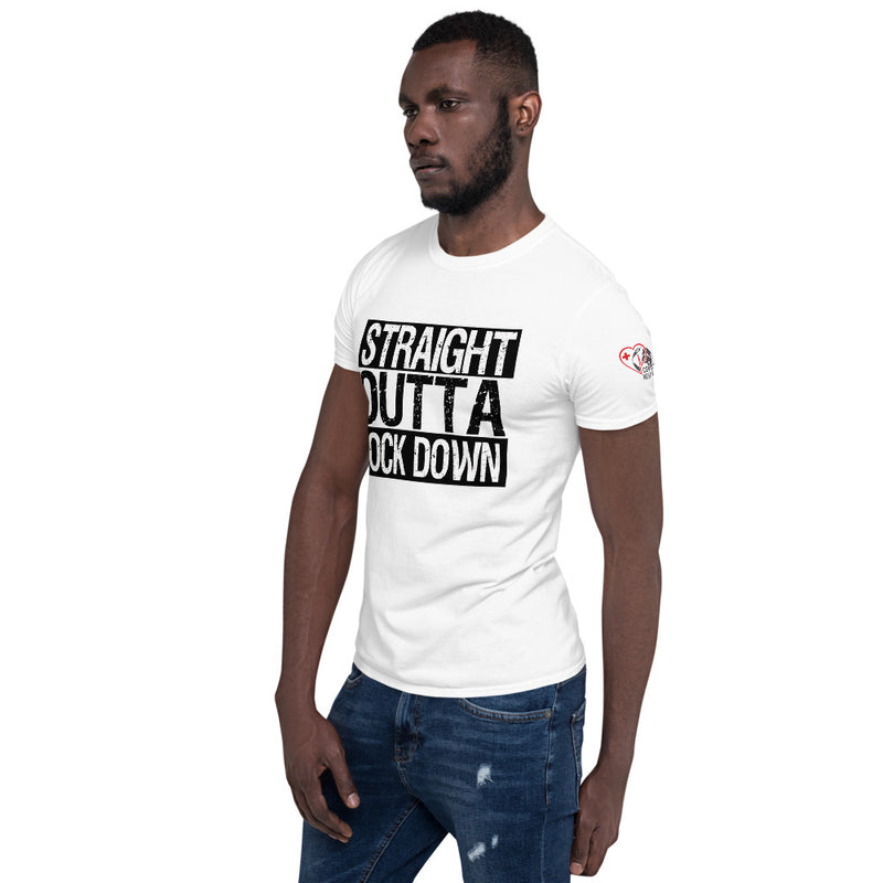 Straight Outta Lock Down - Shortsleeve T-shirt