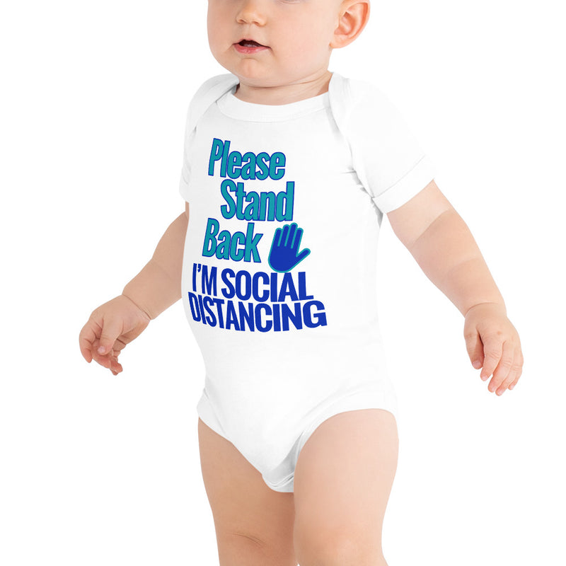 PLEASE STAND BACK - I'M SOCIAL DISTANCING (Baby Onesie) Boys - T-Shirt