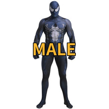 Load image into Gallery viewer, Marvel Superhero Venom Symbiote Spiderman Zentai Skin Tight Suits Jumpsuit Halloween Cosplay Costume