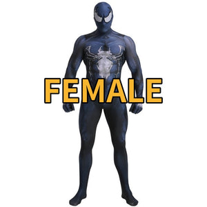 Marvel Superhero Venom Symbiote Spiderman Zentai Skin Tight Suits Jumpsuit Halloween Cosplay Costume