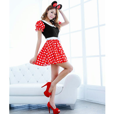 Sexy Lingerie For Women Cute Mouse Cartoon Christmas Cosplay Xmas Costumes Dress Up Outfit With  Ear Fetish Kinky Skirt