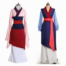 Load image into Gallery viewer, Hua Mulan Dress Blue Dress Princess Dress Movie Cosplay Costume Custom Made