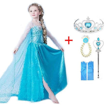Load image into Gallery viewer, 2019 new Elsa Dress girls Party Vestidos Cosplay Girl Clothing Anna Snow Queen Print Birthday Princess Dress Kids Costume
