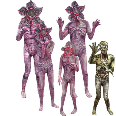 Demogorgon Halloween Costume for Kids Stranger Things Man-eater Flower Scary Fortress Cosplay Carnival Party Creepy Clothes Mask