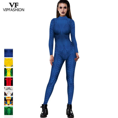 VIP FASHION Mystique Marvel Hero Anime Aquaman Wife Mera Cosplay Deadpool Sexy Costume Carnival Halloween Costumes  For Adult