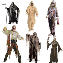 Load image into Gallery viewer, Adult Bloody Butcher Costume Horror Ghoul Killer Costume Scary Halloween Fancy Dress Shirt Mask Apron Men's Cosplay Outfit