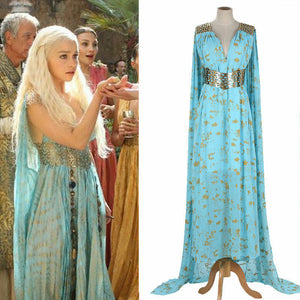 Mother of Dragons Game of Thrones Daenerys Targaryen Costume Long Maxi Dress Hallowmas Party Cosplay Costume