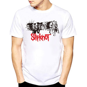Rocksir t shirt 2018 Summer Style Fashion tshirt men Rock Band Slipknot Print Hip Hop Tee shirt Short Sleeve summer white tops