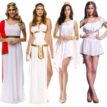 Load image into Gallery viewer, Ladies Roman Princess Toga Fancy Dress Halloween Greek Olympic Goddess Grecian Outfit Costume