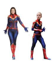 Load image into Gallery viewer, 2019 New Kids Surprise Captain Marvel Cosplay Costumes The Avengers 4 COS Top and Pants Daily Clothes Girls Birthday Party Gifts