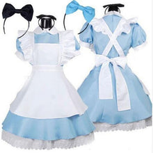 Load image into Gallery viewer, Halloween Women Adult Anime Alice In Wonderland Blue Party Dress Alice Dream Women Sissy Maid Lolita Cosplay Costume