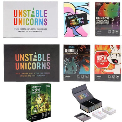 Unstable Unicorns Card Games Fun Best Board Games Basic/Expansion Pack Dragons NSFW Uncut Rainbow Unicorns Legend