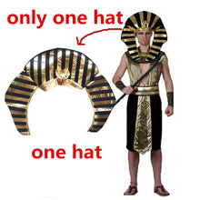 Load image into Gallery viewer, Egypt Pharaoh Costumes For Halloween Party Adults Clothing Egyptian King Men Prince Purim Fancy Dress