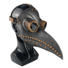 Load image into Gallery viewer, Halloween Led Plague Doctor Latex Mask Light Masquerade Mascara Long Nose Beak Bird Crow Cosplay Steampunk Halloween Accessories