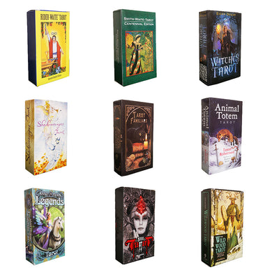 Magical tarot deck English edition mysterious tarot Board Game family party cards game (9 styles to choose)